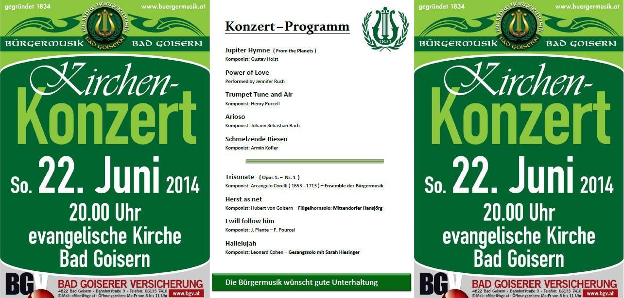 2014 06 22 Kirchenkonzert Programm